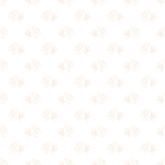 Floral background. Seamless vector illustration with small roses in vintage style. Cute ornament for printing on fabric, textile, linen, bedding, wallpaper, cover, paper One color beige on white