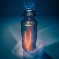 Mysterious elixir potion bottle