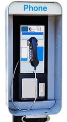 Vintage payphone. Vertical.