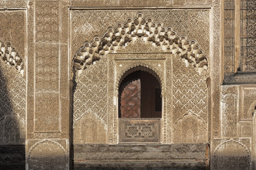 Fez / Fez Madrasa / picture showing the stunning Madrasa in Fez (Bou Inania Madrasa), Morocco