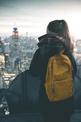 Girl enjoying Manhattan View - New York