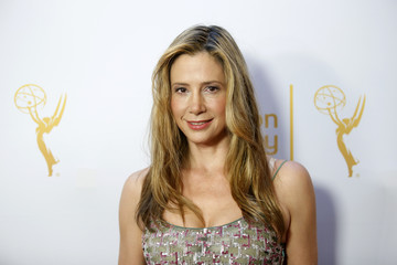 Sorvino poses at the Television Academy's Performers Peer Group cocktail reception to celebrate the 66th Primetime Emmy Awards in Beverly Hills