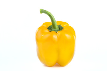 a yellow pepper on the white background