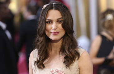 Actress Keira Knightley arrives at the 87th Academy Awards in Hollywood