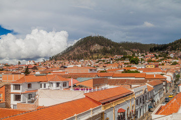Red roofs of Sucre, Bolivia