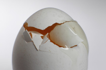 A picture illustration shows broken egg in Berlin