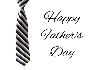 Happy Father's Day Card with a Tie