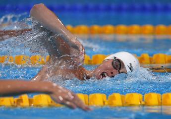 Jaeger of the U.S. competes in the men's 800m freestyle heats during the World Swimming Championships in Barcelona