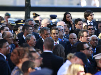 Giuliani, Bloomberg, Cuomo, and Christie attend ceremonies marking the 11th anniversary of the September 11 attacks, in New York