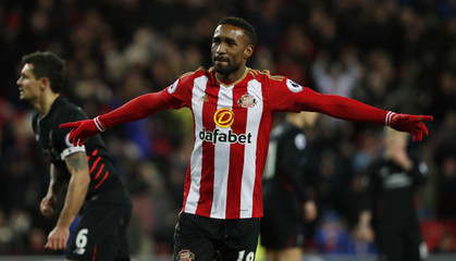 Sunderland's Jermain Defoe celebrates scoring their second goal