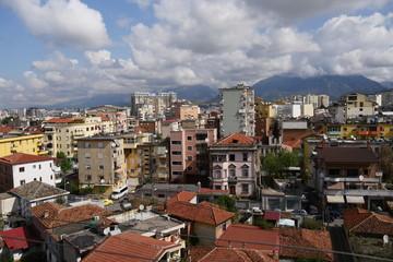 albanian city skyline