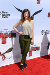 """Actress Kathryn Hahn arrives at the premiere of """"How To Train Your Dragon 2"""" in Los Angeles, California"""
