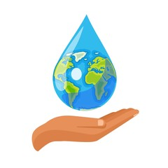Drop of water and world