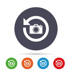 Front photo camera sign icon. Change symbol.