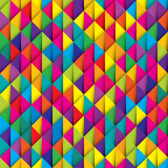 Seamless colorful paper ribbon triangles imitation pattern vector