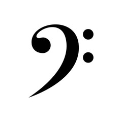 bass clef vector icon