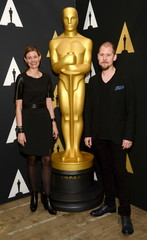 Love Larson and Eva von Bahr attend a reception at the Academy of Motion Picture Arts and Sciences in Beverly Hills