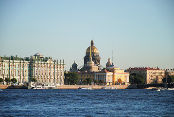St. Isaac's Cathedral, the Admiralty and the Hermitage or the Winter Palace