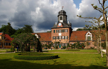The Wolfsgarten (wolves' garden) castle of the Earl of Hesse is photographed in Langen near Frankfurt