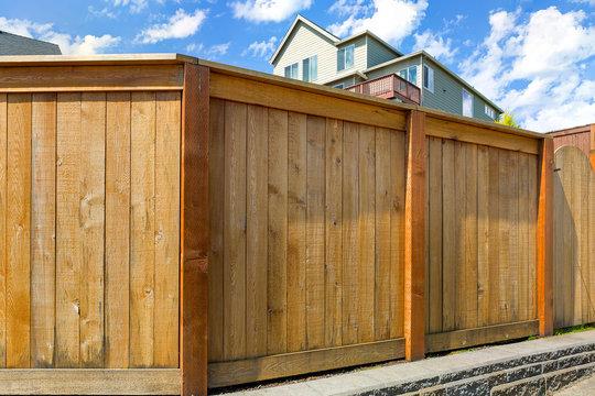 House Backyard Wood Fence with Gate