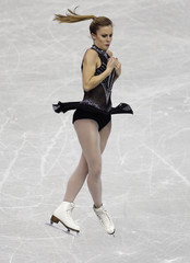 Wagner of the U.S. performs during the women's short programme at the ISU Grand Prix of Figure Skating Final in Fukuoka