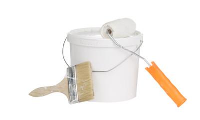 DIY home improvement paint brush on bucket.