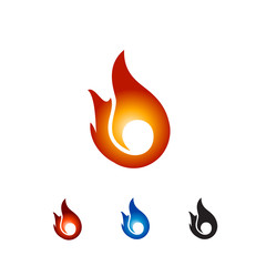 set colour fire logo