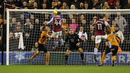 Aston Villa's Ross McCormack misses a chance to score
