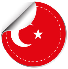 Sticker design for flag of Turkey