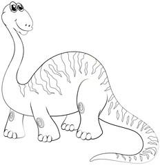 Animal outline for long neck dinosaur