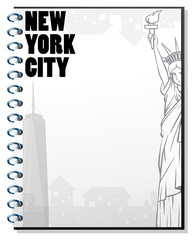 Paper template with new york theme