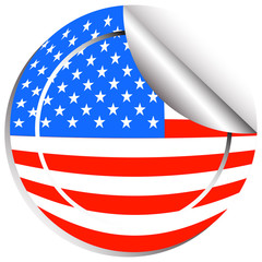 Sticker design for flag of USA