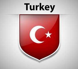 Badge design for Turkey flag