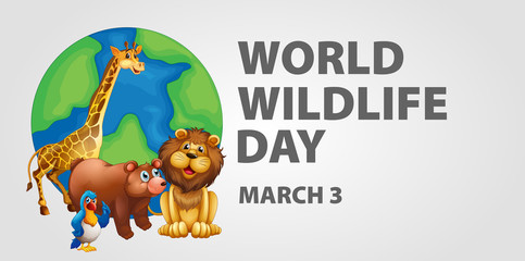 Poster design for world wildlife day