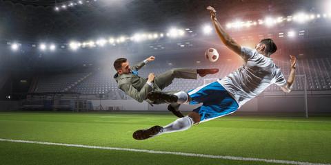 ผู้เล่นฟุตบอลในการโจมตี