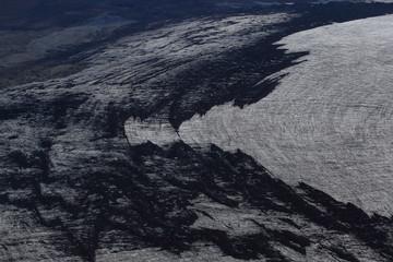 Aerial of Mountains, Emstrur Area. Region by Katla- subglacial volcano under Myrdalsjokull Ice Cap, Iceland Fototapete