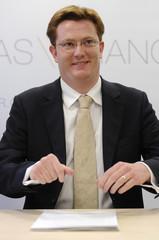 Britain's Treasury Minister Danny Alexander prepares to speak at the IPPR in London