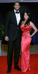 Anthony and La La Vasquez arrive for the annual White House Correspondents' Association dinner in Washington