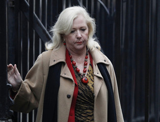 Mary-Ellen Field, former assistant to model Elle MacPherson, arrives at the Leveson Inquiry at the High Court in central London