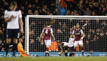 Tottenham's Harry Kane celebrates scoring their second goal