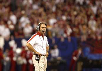 Alabama head coach Saban directs his team against LSU during the NCAA BCS National Championship college football game in New Orleans