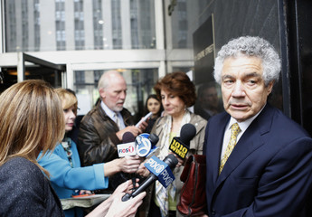 Fishbein, an attorney for Hernandez, speaks to the press following a hearing outside the state Supreme Court in the Manhattan borough of New York