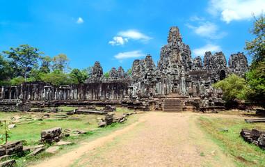 Bayon temple in Angkor Wat, Siem Reap