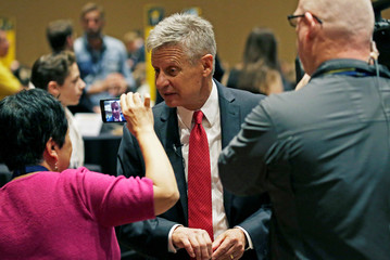 Libertarian Party presidential candidate Gary Johnson attends the National Convention held at the Rosen Center in Orlando, Florida