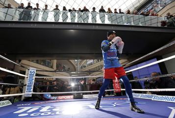 Josh Warrington & Stuart Hall Media Work-Outs