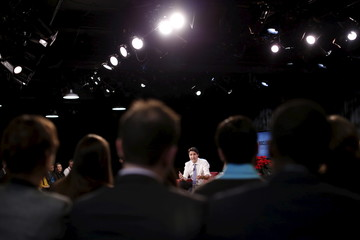 Canada's PM Trudeau speaks during a Maclean's magazine town hall in Ottawa