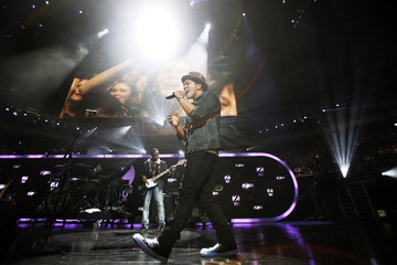 Singer Bruno Mars performs during the Z100 Jingle Ball in New York