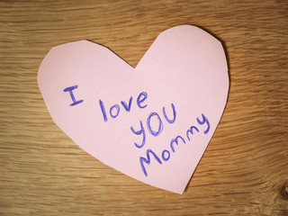I Love You Mommy Note