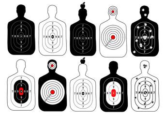 target range shoot human vector set