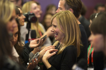 """Actress Amy Ryan arrives for the premiere of the film """"Breathe In"""" at the Sundance Film Festival in Park City, Utah"""